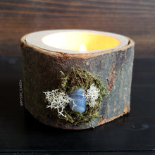 Blue Lace Agate Wooden Tealight Holder