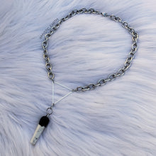 Stainless Steel Howlite Crystal Necklace