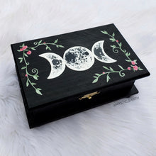 Floral Moon Phase Jewelry Box