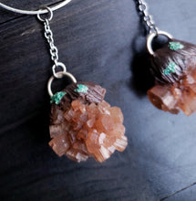 Aragonite Crystal Hoop Earrings