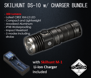 Skilhunt  DS10 LED CREE XML-2 EDC Flashlight 300 Lumens