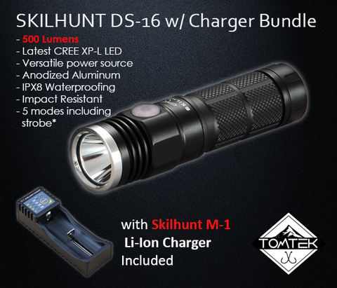 Skilhunt DS16 500 Lumens CREE XP-L LED Torch/Flashlight