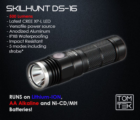 Image of Skilhunt DS16 500 Lumens CREE XP-L LED Torch/Flashlight