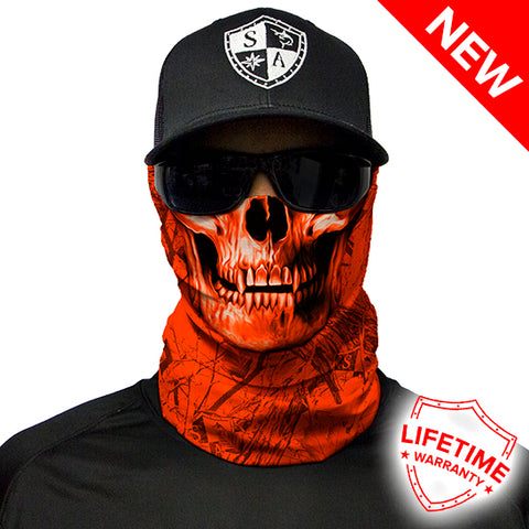 Image of SA Forest Camo | High Vis Orange | Skull