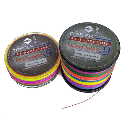 Tomtek Tackle 9-strand PE Superline Supercast Braid