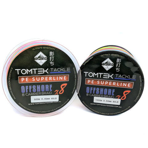 Tomtek Tackle 8-strand PE Superline Offshore Braid