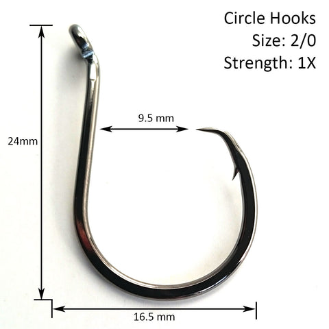 Image of 2/0 TomteK™ Circle Hooks