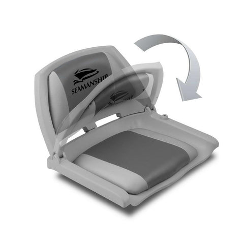 Swivel Folding Marine Boat Seat Grey Charcoal