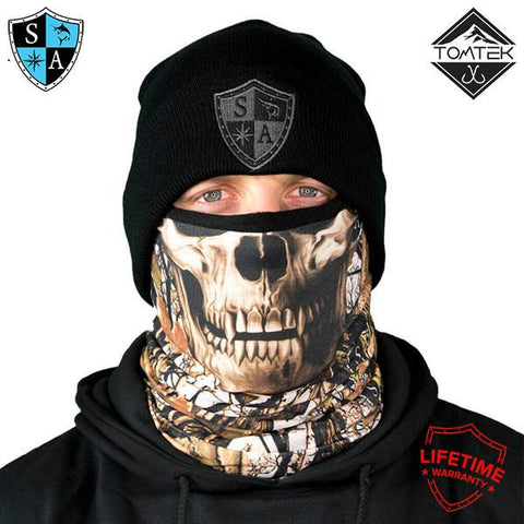Image of Frost Tech™ | SA White Forest Camo Skull Fleece