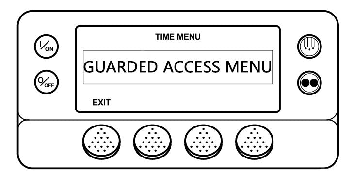 How to enter Guarded Access Mode on SR-3 / SR-2 contro