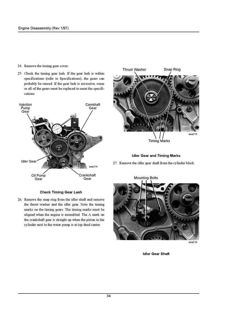 Overhaul Manual for Engines: TK244 (2.44), TK249 (2.49