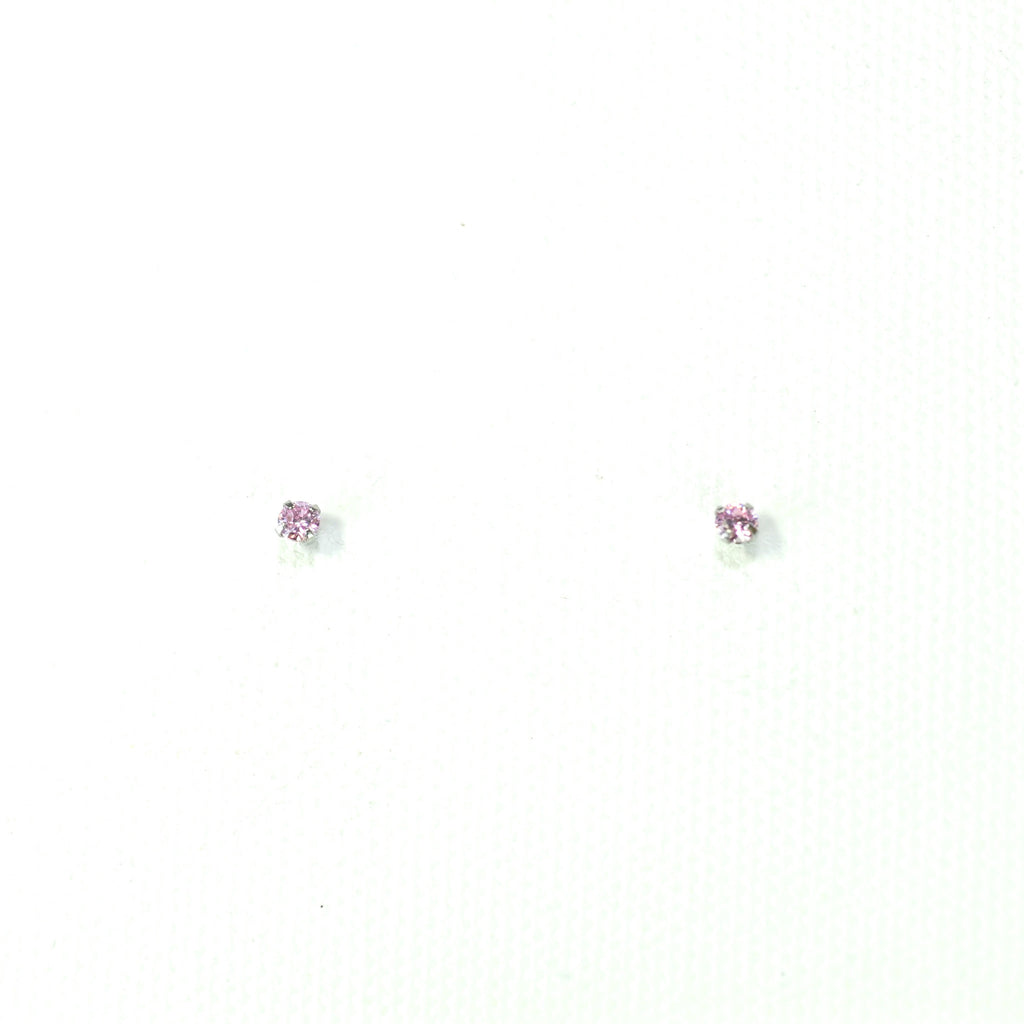 Crystal Stud Earrings (3mm)