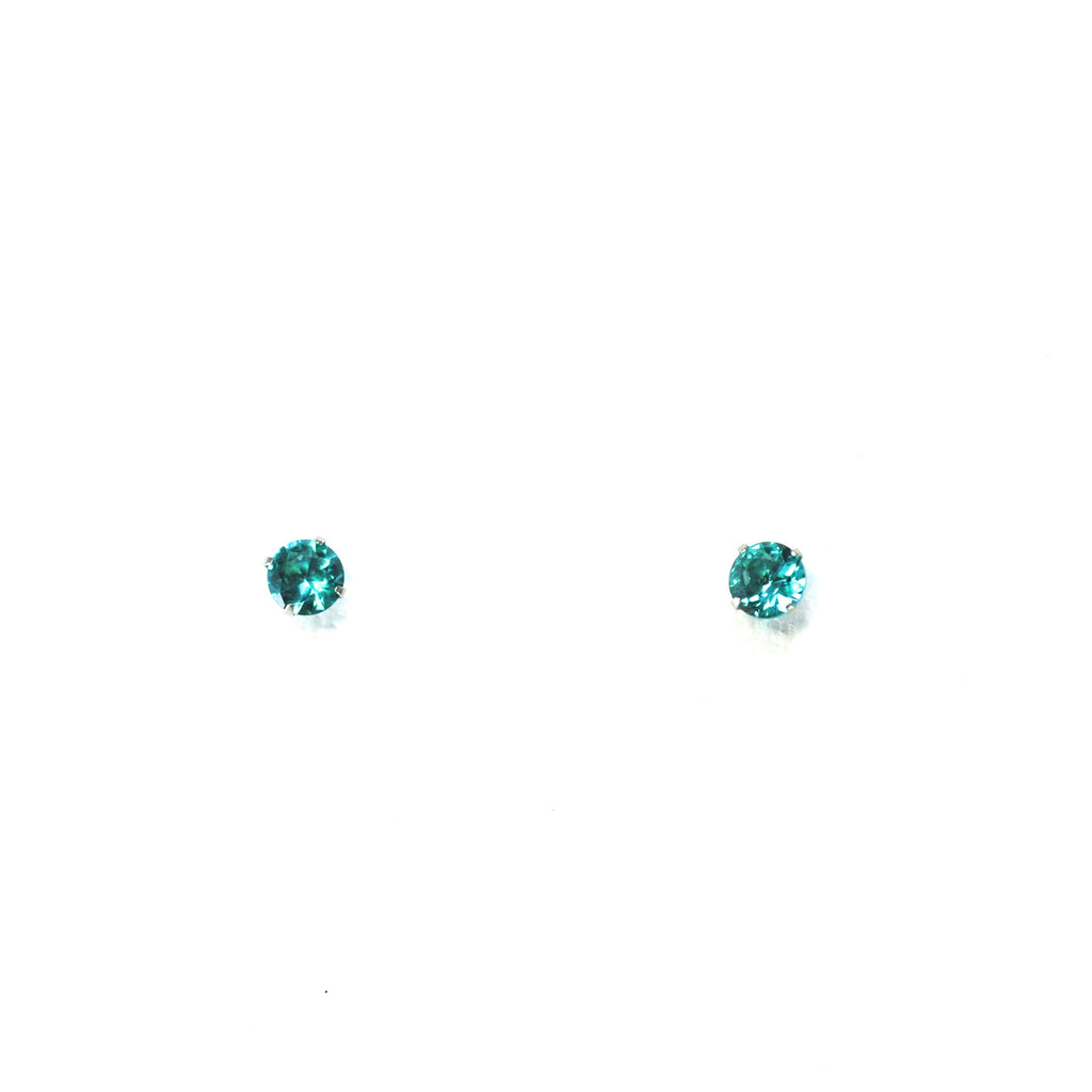 Crystal Stud Earrings (5mm)