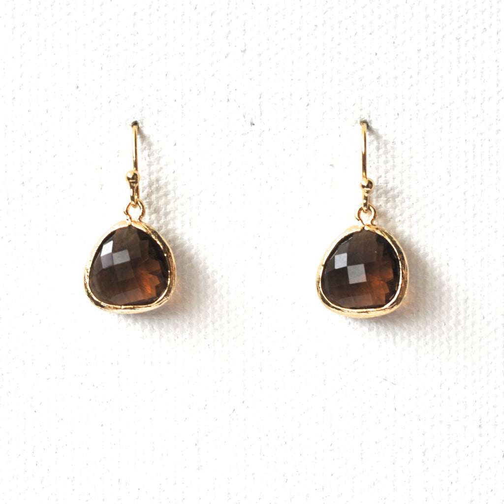 Organic Crystal Drop Earrings