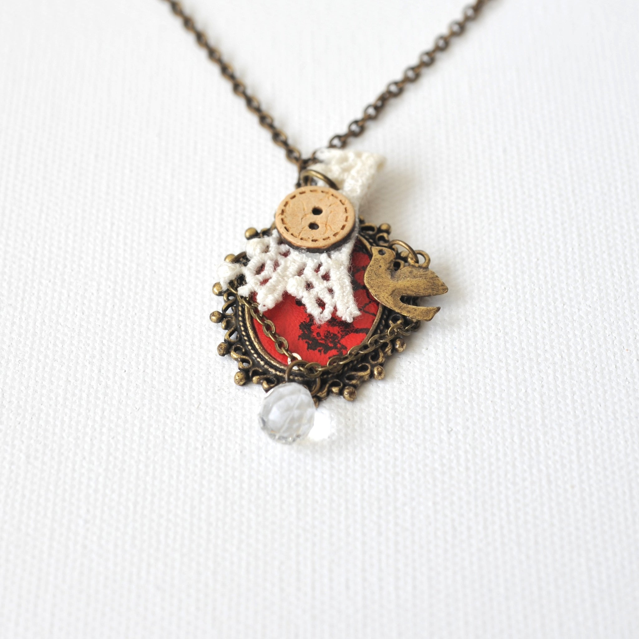 Dove in Frame Necklace