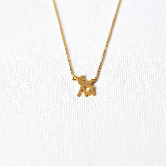 Prancer Deer Necklace