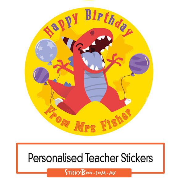Happy Birthday Dino - Personalised