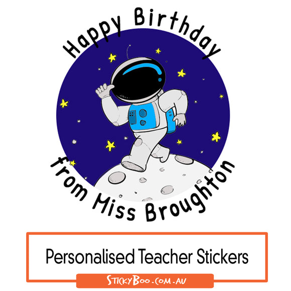 Happy Birthday Spaceman - Personalised