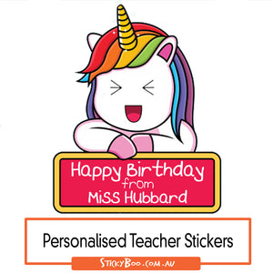 Happy Birthday Unicorn - Personalised