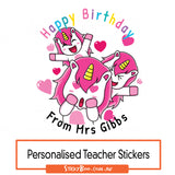 Happy Birthday Unicorn Kisses - Personalised