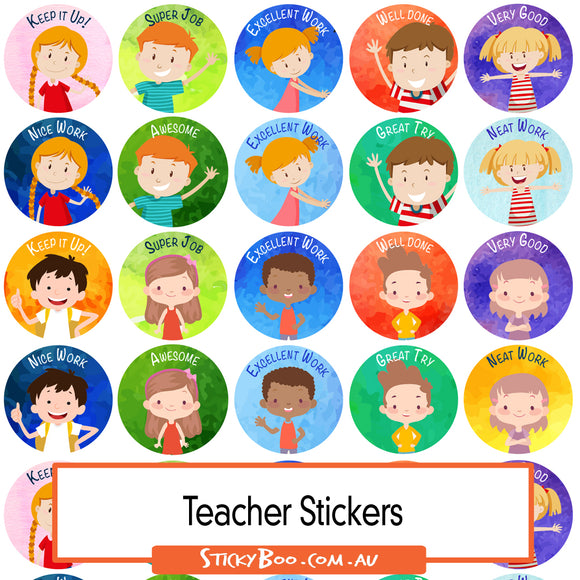 Reward Stickers - Happy Kids