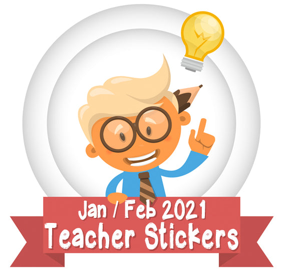January  / February 2021 Teacher Sticker Pack