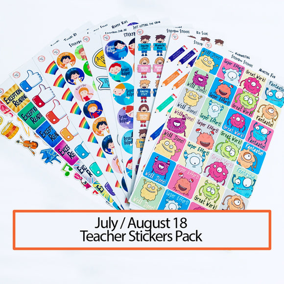 July/August 2018 Sticker Pack