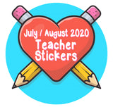 July / August 2020 Teacher Sticker Pack
