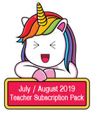 July / August 19 Teacher Sticker Pack