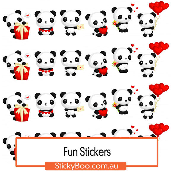 Panda Love Sticker Pack
