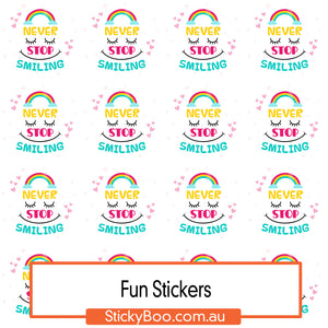 Never Stop Smiling Sticker Pack