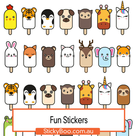 Pop Stick Fun Sticker Pack