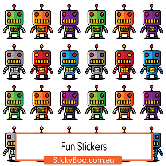 Robot Friends Sticker Pack