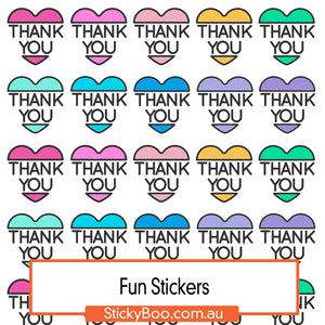 Thank You Hearts Sticker Pack