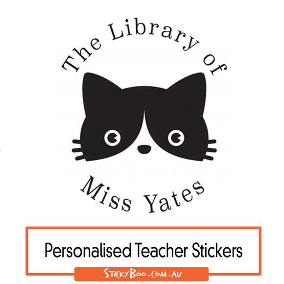 Library Cat - Personalised