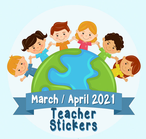March  / April 2021 Teacher Sticker Pack - LIMITED STOCK