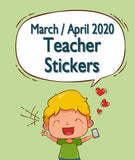 March / April 2020 Teacher Sticker Pack