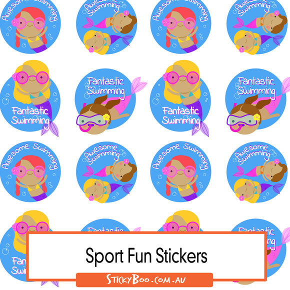 Sport Reward Stickers - Mermaid Swim Fun