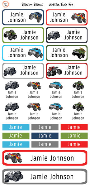 Monster Truck Fun - Personalised