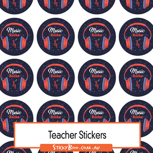 Reward Stickers - Music Rocks