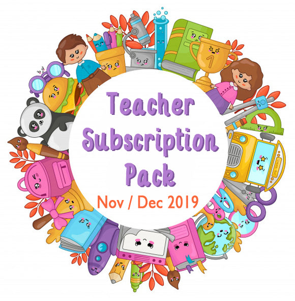 Nov / Dec 2019 Teacher Sticker Pack