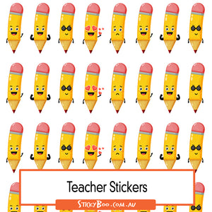 Reward Stickers - Pencil Friends