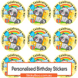 Happy Birthday - Party Racoons - Personalised