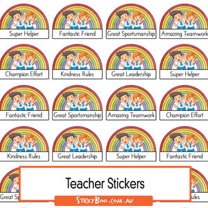 Reward Stickers - Rainbow Celebrations