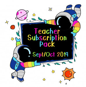 Sept / Oct 2019 Teacher Sticker Pack