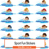 Sport Reward Stickers - Swim Fun