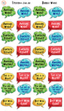 Reward Stickers - Bubble Words