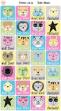 Reward Stickers - Scandi Animals