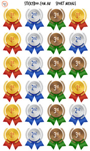 Reward Stickers - Sport Medal Stickers