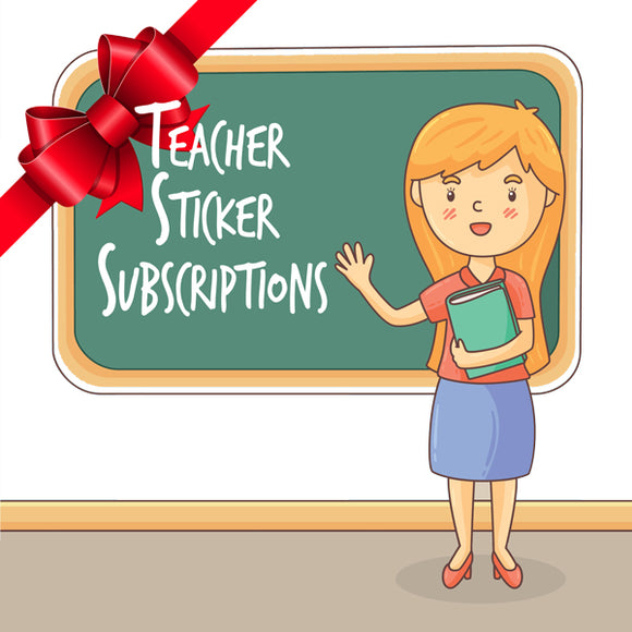 Teachers 12 Sticker Pack - Gift Plan